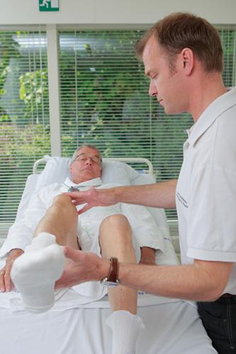 Fysioterapien varetages af fyioterapeut Uwe Christiansen